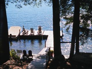 Squam Lake house photo - our dock in front of cabin