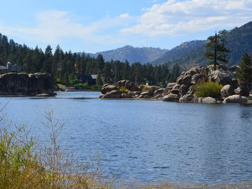 Beautiful Boulder Bay. Enjoy Boating & Water Skiing at Big Bear Lake in Summer.