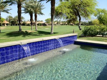 Rancho Mirage condo rental - Our new private heated saltwater pool with incredible views!