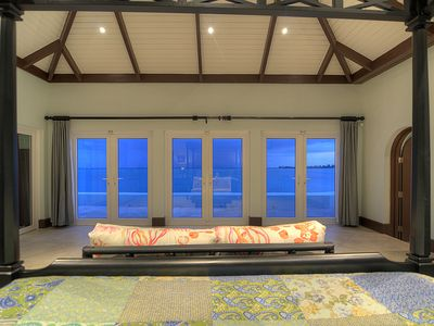 View from your 4 poster canopy bed in the master bedroom