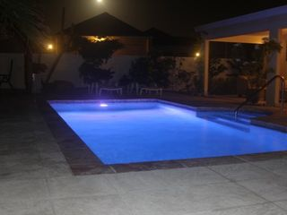 Aruba villa photo - Pool at night