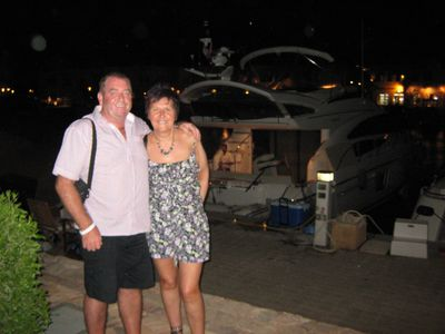Me and my other half at Hurghada marina