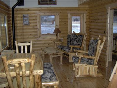Beautiful log furniture crafted by local artist and craftman