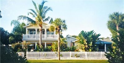 Key West architecture in this roomy coastal beach home with water views!!!