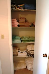 well stocked linen closet
