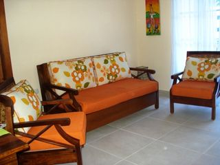 Bavaro condo photo - Living room with pull-out sofa.