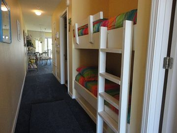 Children just love the kid size bunks.. pictured w/the new carpet
