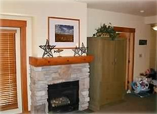 Living room area - Fireplace and TV with DVD player