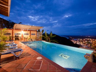 Unique Feature to Casa Azul is the fabulous Views of the Nightlights of Quepos.