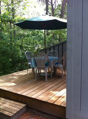 New Seabury condo photo - Enjoy coffee and breakfast on the deck.