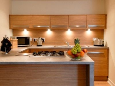 Modern kitchen with integrated appliances