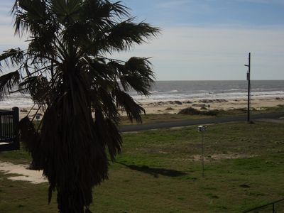 Beach View from Covered Deck - Looking toward Galveston. 9.5 Miles to the Ferry