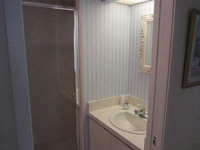 Guest bathroom with stall shower