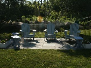 outside patio - ready for cocktail hour - Block Island house vacation rental photo