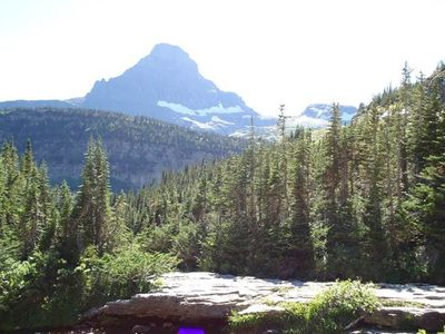Views of GLACIER NATIONAL PARK, 40 minute drive. A must see!