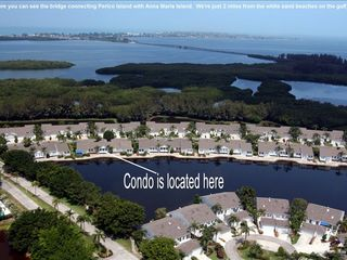 Bradenton condo photo - Anna Maria Island in background