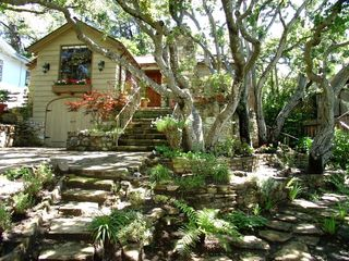 Carmel cottage photo - Large garden provides privacy