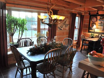 Gorgeous Views of the Ozark Mountains from the Dining Room
