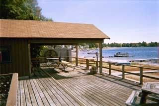 Muskegon cottage photo - Deck, Covered Patio and Lakeview East