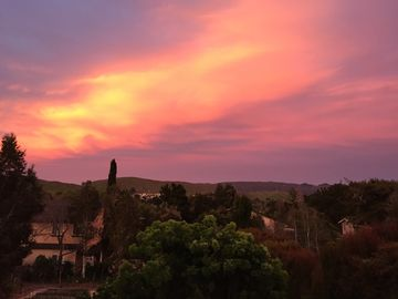 San Luis Obispo house rental - A beautiful sunrise view from the deck