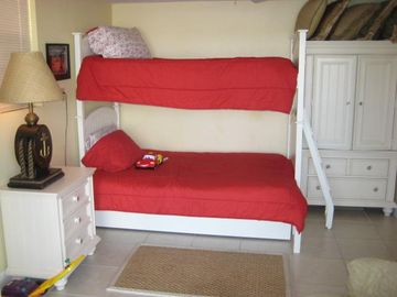 Bedroom #2 with Bunkbeds, with One Full and One Twin Bed