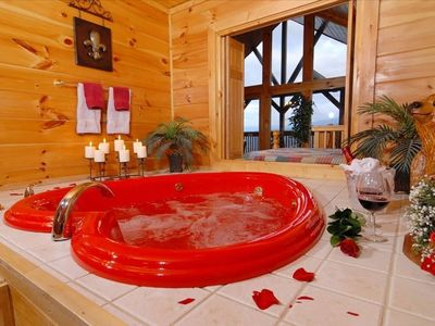 HEART SHAPE JACUZZI TUB W/ PRIVACY DOORS