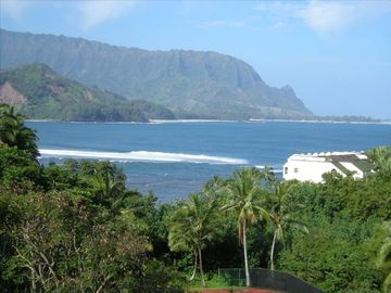 Princeville condo rental - View from the lanai of HBR 3105