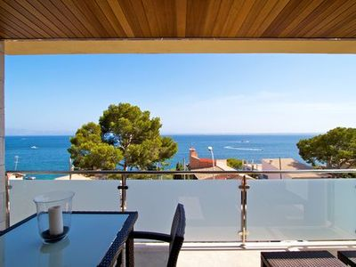 Photo for Modern, stylish villa with sea views