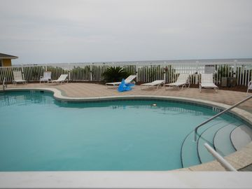 Swimmming Pool overlooking beach.