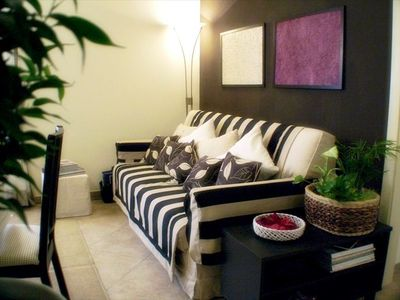Warm & comfortable sofa-bed (sleeps 2)