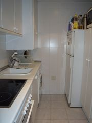 Marbella apartment photo - Kitchen with dishwasher and washer machine. It has microwave, oven and fridge.