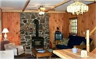 View of living room...all firewood included in rate!