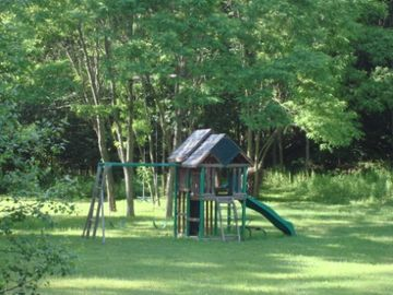 Your own playground right in the backyard that kids love