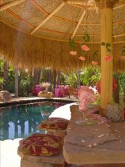 Ojai estate photo - Tiki Bar with all rock seats