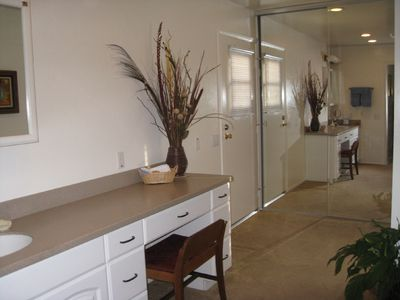 San Diego house rental - Master bathroom & dressing area.