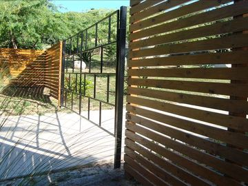 Modern Gate at Property Entrance