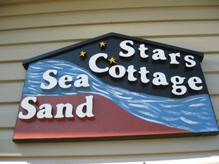 Miminegash cottage photo - Sign on the house to guide you to the Sea Sand and Stars Cottage.