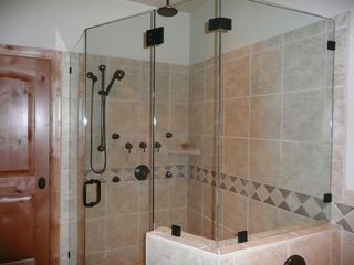 Deer Valley townhome photo - Rain Shower with Body Jets and pebble floor