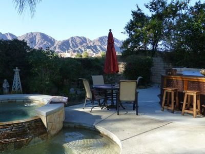 La Quinta house rental - West Santa Rosa mountain view from the patio