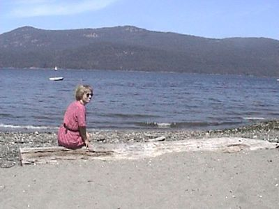 Our beach is opposite Saltspring Island.