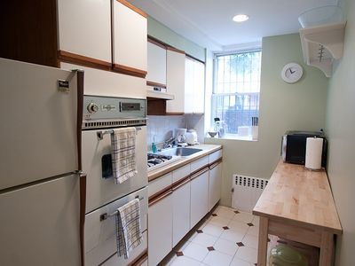 Kitchen has gas stove, microwave, coffeepot toaster & all dishes pots & pans.