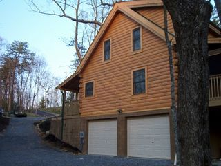 Double Garage wih Asphalt Drive - Wears Valley cabin vacation rental photo