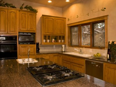 Big Bear City cabin rental - Spacious, fully equipped kitchen - everything you need for meals!