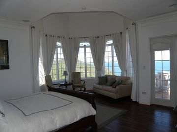 Master Suite with views of the Atlantic Ocean and the Caribbean Sea