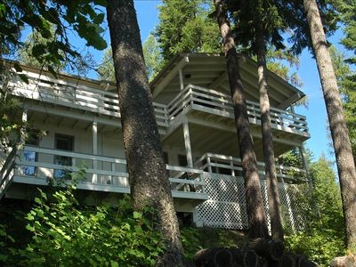 Hayden Lake house rental - Two Decks with lake view