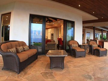 Large covered lanai space to enjoy the outdoors