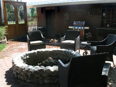 Ruidoso house rental - Fire Pit in the Courtyard