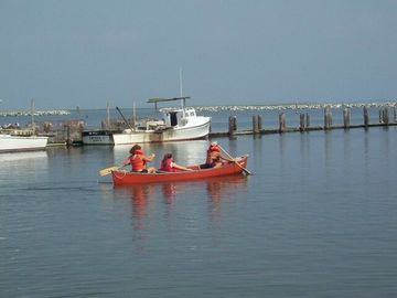Guests use our canoe/charter fishing trips avail