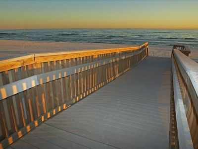 Resort boardwalk to the inviting Gulf waters-Destin/Fort Walton Beach condo