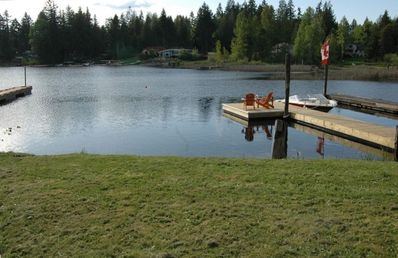 New Dock from  property - canoe available to guests or bring your own boat!